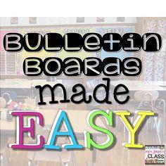 Easy and meaningful bulletin board idea!