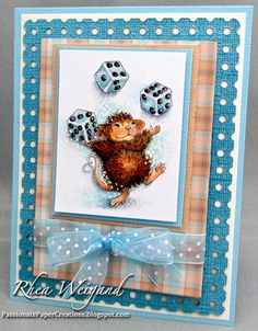 Coloring Maxwell Mouse! BlogStar Rhea Weigand Shows You How | Stampendous Impressions