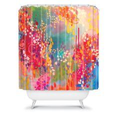 Stephanie Corfee Razzle Dazzle Shower Curtain #colorful #watercolor #bold #unique #home #decor
