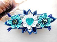 Kanzashi hair clip/Kanzashi flower/French barrette