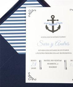 Invitación y sobre Marina