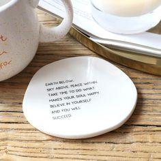 Believe In Yourself Organic Shape Coaster