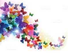 Coloridas mariposas volando illustracion libre de derechos libre de derechos