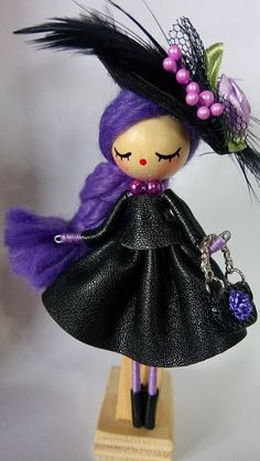 Luxe Brooch  jewelry doll by Delafelicidad on Etsy