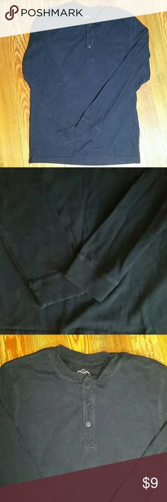 St. John's Bay Legacy Henley Navy (pictures make it appear faded, but it is not), excellent condition, my son grew too fast to wear it much. Bundle with other men's small items in my closet and save for back to school. St. John's Bay Shirts