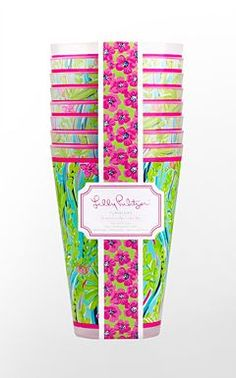 Lilly Pulitzer tumblers.