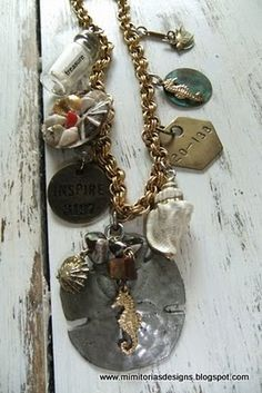 A beach themed necklace from 2009 that I created and have sold.