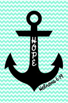 Cute anchor on chevron wallpaper!⚓