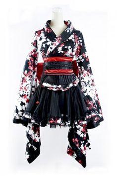 Simple designer Dramatic Halter Black Punk Lolita Dress  -> more like wa Lolita lol