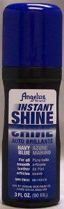 Angelus Instant Shine Liquid Shoe Polish 3 Fl Oz (color variety) (Navy Blue) by Angelus. $3.95. instant shine. non toxic. easy use foam applicator. Angelus instant shine liquid shoe polish with foam applicator. Non toxic and easy to use applicator