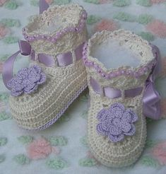 Boutique Crochet Posies Baby/Doll Booties - Kneat Heaven Boutique -