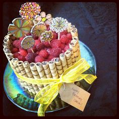 dark chocolate raspberry cake + decorating tutorial...not as hard as it looks.