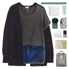 """""""HE'S SO DEVOID OF COLOR"""" by nxstalgia ❤ liked on Polyvore featuring Acne Studios, American Apparel, H&M, Fjällräven, By Lassen, NARS Cosmetics, MAC Cosmetics and Giorgio Armani"""