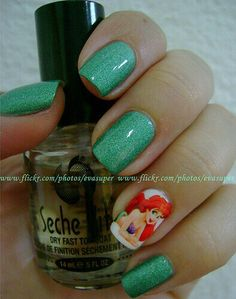 Ariel nails. My daughter loves her, lol.