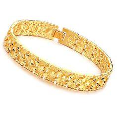 KS Jewelry K Gold Jewellery Valued Men's Bracelet Love
