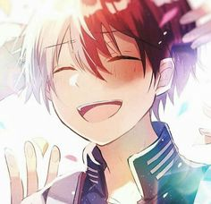 My Hero Academia Shouto, My Hero Academia Episodes, Hero Academia Characters, Hero Wallpaper, Cute Anime Wallpaper, Cute Anime Boy, Anime Guys, Anime Boy Smile, Deku Anime