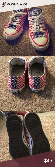 Converse America sneakers Worn once but amazing condition, size 6.5 women's and 4.5 mens, I feel they fit a 7 women's great Converse Shoes Sneakers