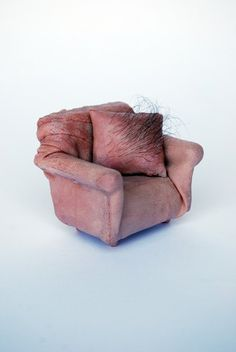 Love UK artist Jessica Harrison's miniature furniture. It reminds me of Surrealist Meret Oppenheim.