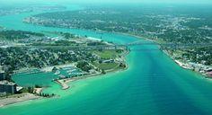 An aerial view of #Sarnia courtesy of tourism Sarnia #Lambton. greatlakesdental.ca