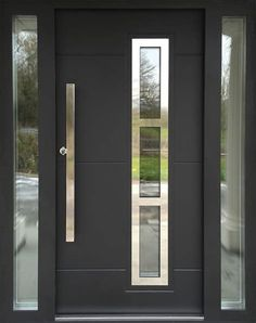 Entry doors are made from timber steel or fiberglass and also in come instances a combination of these products. See the key distinctions between all doors and when prepared use ImproveNet to locate door professionals. - April 25 2019 at Modern Entrance Door, Front Door Entryway, Modern Exterior Doors, Modern Front Door, Exterior Front Doors, House Front Door, Entrance Doors, Front Door Handles, House Doors