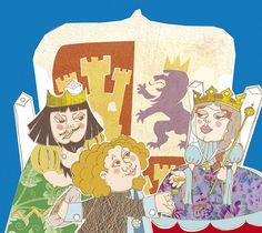 Boceto escena Cristóforo y los Reyes Católicos