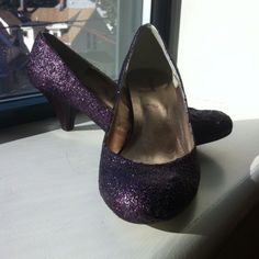 I did the modge podge glitter shoes DIY and this was my result! Aren't they cute?