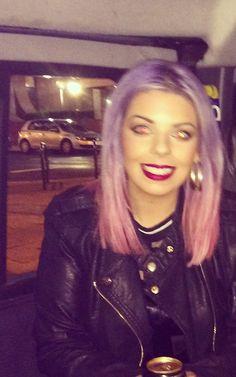 My new hair colour! Bleach London purple and pink dip dye! Love it