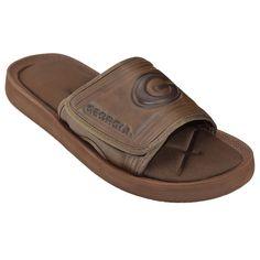 Adult Georgia Bulldogs Memory Foam Slide Sandals, Men's, Size: Medium, Brown