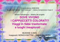 Dove vivono i Cappuccetti colorati by Monica Battini - issuu Montessori, Make It Simple, Public, Coding, Names, Author, Books, How To Make, Art