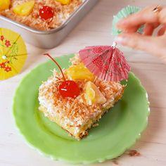 Wish you were here! #food #dessert #pokecake #cake #pinacolada