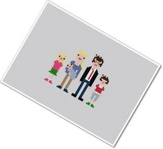 custom family cross stitch, etsy shop has some seriously cute stuff