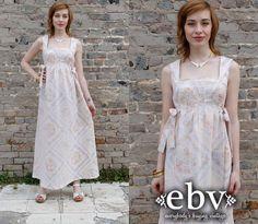 #Handmade #Vintage #70s #Floral #Hippie #Maxi #Festival #Sun #Dress S M L by shopEBV, $68.00