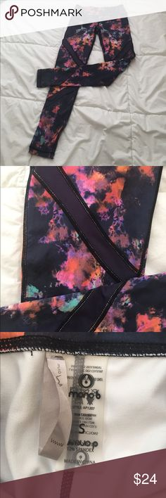 Workout leggings Multicolored workout pants! Like new. Only selling because I bought them and decided they were too small! Mono B Pants Leggings