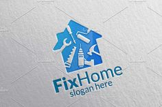Real estate Logo, Fix Home Logo - Logos