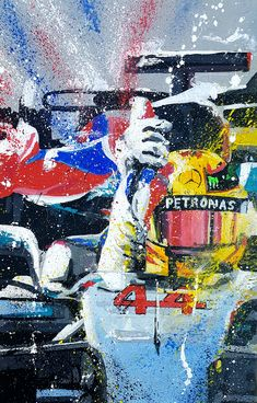 Lewis Hamilton Wins 4th Title Original Painting