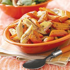 Oven-Roasted Parsnips and Carrots by All You. Roast parsnips and carrots for a quick and easy side to a family meal. This recipe makes a flavorful dish and only requires 5 ingredients.