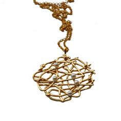 3486a01ee FREE SPIRIT necklace with pearls sterling silver, 18ct yellow gold vermeil  by Katerina Damilos www