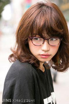 村山 莉緒さん かけやすさが嬉しい♪細身のボストン型 JINS SNAP