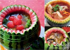Melons are so versatile. Once you are done eating them, you can eat with them.