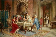 Franz von Persoglia (1852 - ?) - Teatime