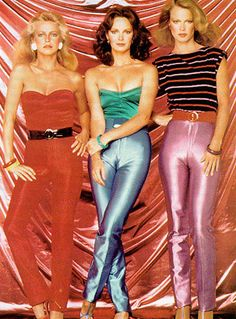 charlies angels roller disco | Charlie's Angels in their disco outfits