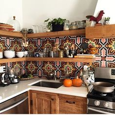 "16k Likes, 188 Comments - The Jungalow™ (@thejungalow) on Instagram: ""@redpoppyvintage's kitchen always makes us smile! Thanks for sharing in the #jungalowstyle feed"""