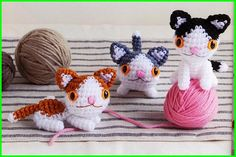 Instant  download  Amigurumi three tone Cat by Craftpattern, $2.75