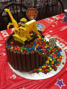 Rubble cake paw patrol party M&M's