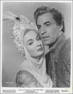 Ann Blyth and David Farrar in 'The Golden Horde', 1951.