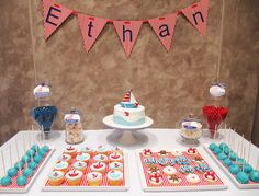 nautical theme dessert table by Sweet Parlour, via Flickr