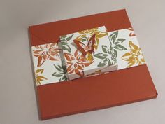 Gift box with clever butterfly clasp closure, video tutorial using Reason for the Season by Stampin' Up