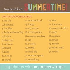 Perfect photo challenge for July!