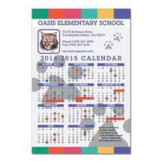 4x6 Academic School Year Calendar Magnets