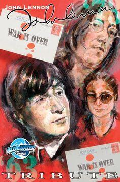 Cover painted for John Lennon comic.